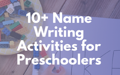 Preschool Name Writing Activities